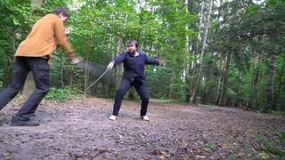 """Фехтование по школе """"aikido old school"""". Вторая форма.""""Old school aikido"""", fencing. Second form."""