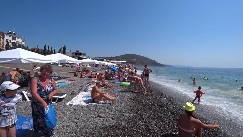Рыбачье 2021 ПОЛНЫЕ пляжи отдыхающих ЦЕНЫ в кафе Отдых в Крыму Крым 2021