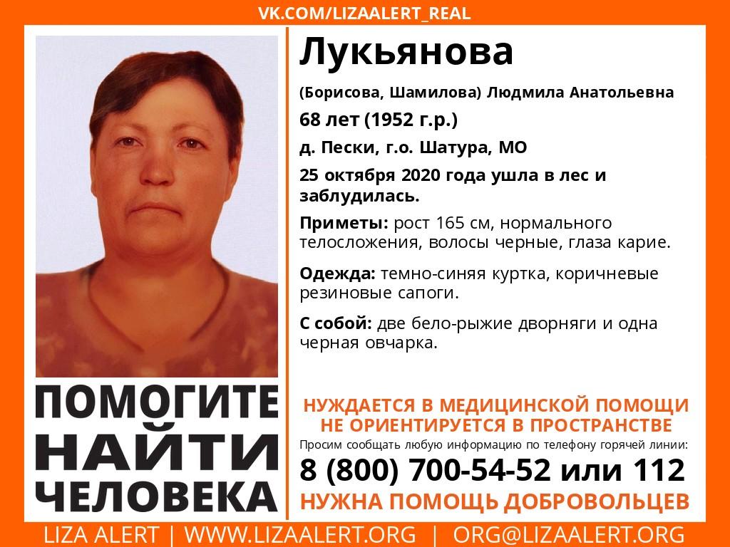 Внимание! Помогите найти человека! Пропала #Лукьянова (Борисова, Шамилова) Людмила Анатольевна, 68 лет, д