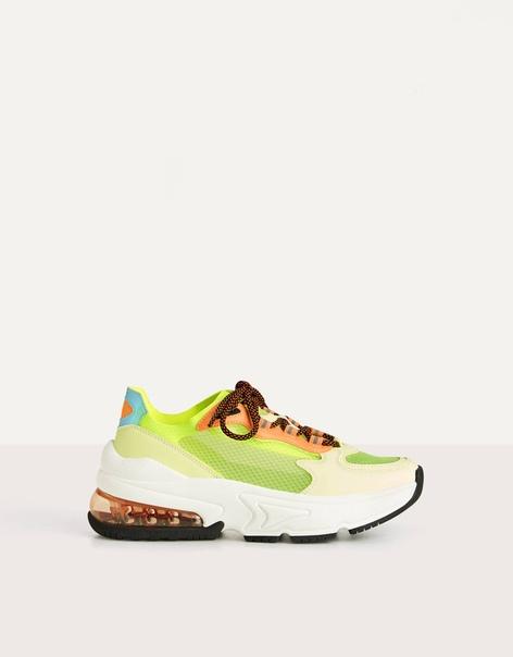 Полупрозрачные кроссовки неонового цвета image 5