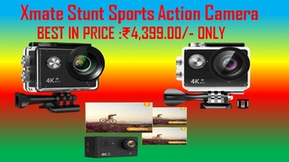 Xmate Stunt Sports Action Camera Black  Fast Mode   up to 120 FPS Video Recording 16MP Camera  4K