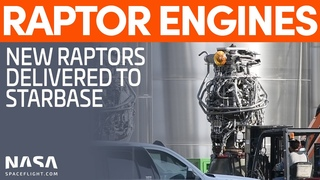 Three Raptor Engines Delivered - Booster 4 Methane Transfer Tube Installed | SpaceX Boca Chica