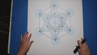 How To Draw The Fruit Of Life & Metatron's Cube with Artist Janette Oakman Sacred Geometry symbols