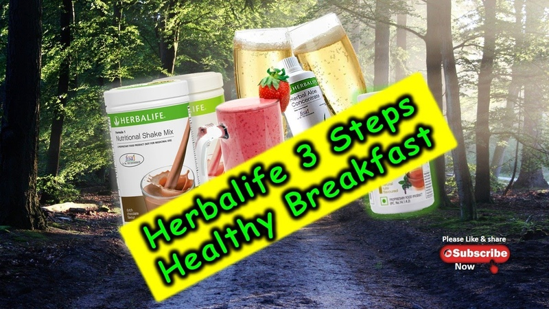 Herbalife 3 Steps Healthy Breakfast F1 Nutritional Shake Mix Herbal Aloe Concentrate and Afresh