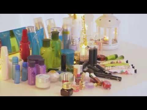Sanipoe 360 Rotating Makeup Organizer DIY Adjustable Makeup Carousel Spinning Holder Stora
