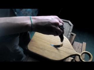 Филейный нож УРМ АНИКА тест на гибкость