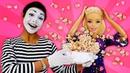 Video e giochi divertenti. Barbie prepara pop corn. Nuovi episodi