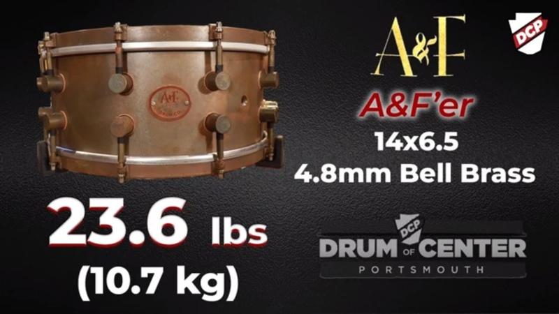 AF Bell Brass AFer Snare Drum 14x6.5