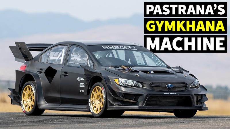 Travis Pastrana's NEW Subaru STI Gymkhana Car First Ever Tire Test In All Raw Carbon