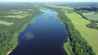Озеро Антоново со стороны д. Борщово. Лужский р-н ЛО.