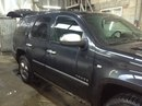 Наши работы по Chevrolet Tahoe : Кузовные работы по заднему правому крылу с покраской.