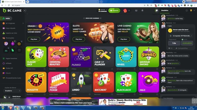 Casino bc game com binus a cada 24 giro spin com possibilidade de ganhar varias moedas site paga