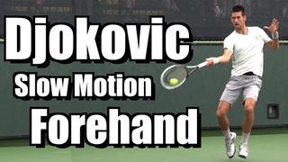 Novak Djokovic Forehand in Super Slow Motion - BNP Paribas Open 2013
