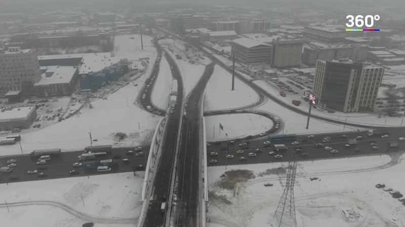 В Химках открыли развязку на пересечении Ленинградского шоссе и улицы Репина