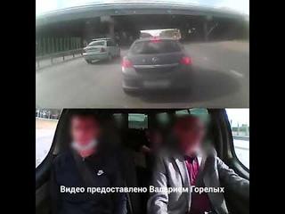 В Екатеринбурге будут судить автохулигана, резко затормозившего на дороге. Момент столкновения