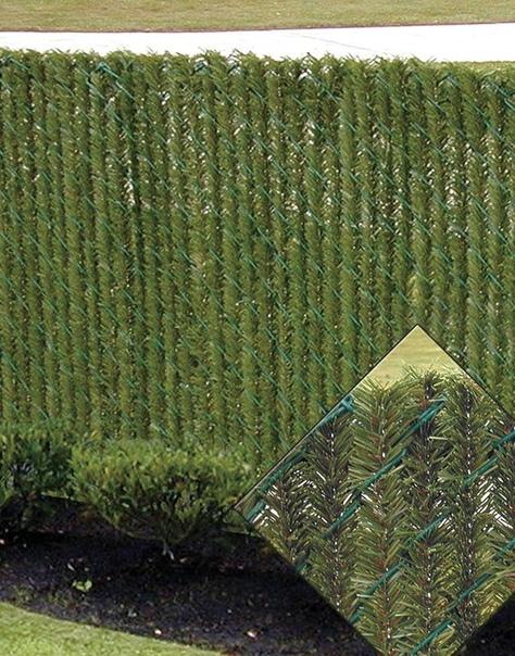 Превращаем сетку в хвойный заборчик