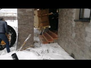 Как внести в дом котел весом 500 кг?