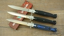 Серия ножей Steelclaw Командор, клинок D2. Видео обзор складных стилетов Командор-1/2/3.