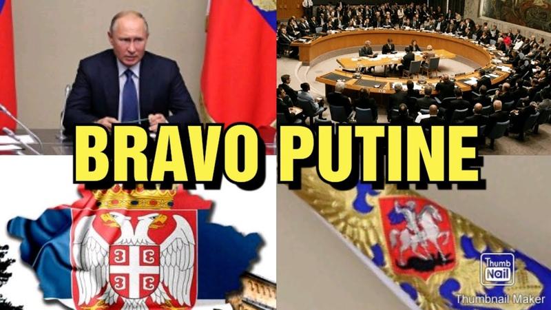 RUSI PREKINULI SEDNICU UN a ZBOG KOSOVA Svaka Čast Ruskoj Braći