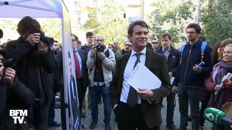 Barcelone Manuel Valls se fait huer par des militants indépendantistes