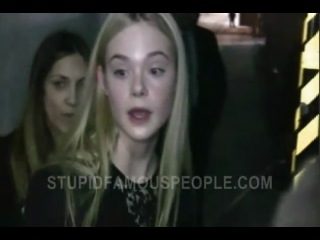 Elle Fanning sweet and adorable at Jimmy Kimmel Live
