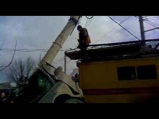 Авария в Туле на ост.Степанова 20 марта