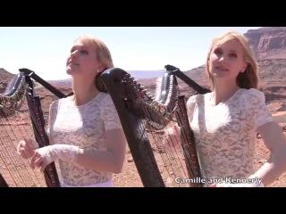 Американские сестры-близнецы игрют на арфах!!! SCORPIONS - Send Me An Angel (Harp Twins) Camille and Kennerly