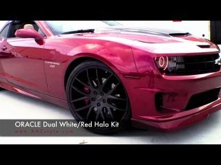 5th gen custom t-top camaro w-oracle dual color halos by advanced automotive concepts