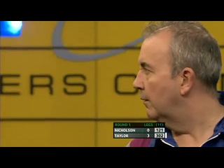 Paul Nicholson vs Phil Taylor (Players Championship Finals 2013 / Round 1)
