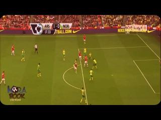 Блестящая комбинация Арсенала и гол Jacka Wilshere!