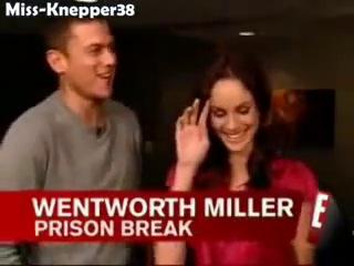 Laugh with the cast of Prison Break !!! (Побег из тюрьмы - смешные моменты интервью и съёмок. Вентворт Миллер, Сара Уэйн Кэллис, Роберт Неппер и другие)
