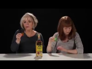 Mother and Dauther drinking MEXICAN TEQUILA