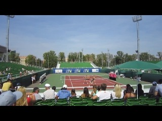 открытие тенисного корта