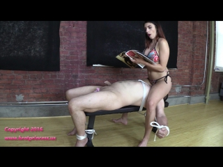 Mia - ignores bound slave ass smothered with full weight
