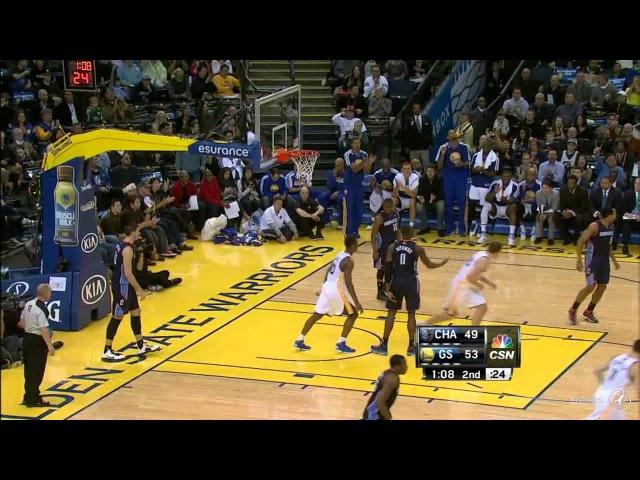 David Lee triple double 23pts 11reb 11ast Warriors Bobcats