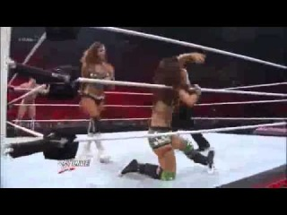 Daniel Bryan & AJ Lee vs The Miz & Eve Torres - WWE Raw 7/16/12