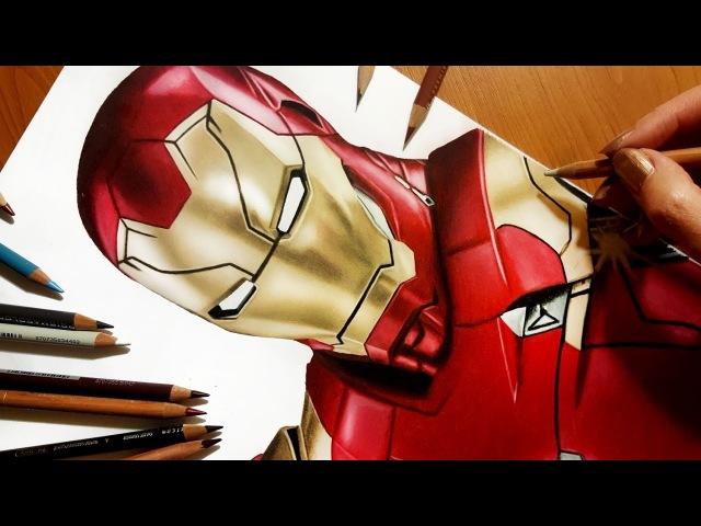 Speed Drawing: NEW Iron Man from Spider Man: Homecoming movie XLVII Suit Jasmina Susak