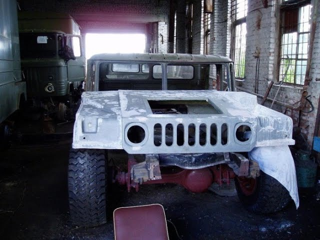 Самодельный Hummer H1 на базе ГАЗ 66! Homemade Hummer H1 based on GAZ-66