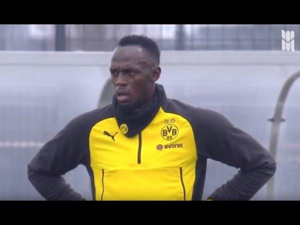 Usain Bolt BVB Training Highlights - NUTMEG , GOAL , PENALTY SKILLS