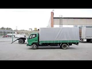 Изготовление тента на грузовой автомобиль Nissan Diesel в Новосибирске.