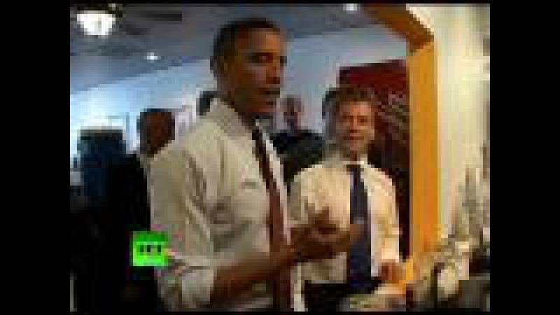 Burger time for Obama and Medvedev