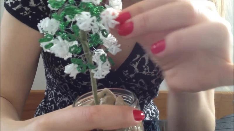 Rosenbusch aus Glasperlen Perlen für Anfänger Bush of roses out of beads Glass Beadmaking