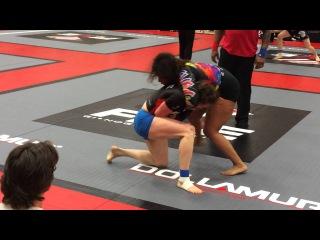 Tara vs Kelly Faszholz NoGi Five Grappling CA Open Feb 2014