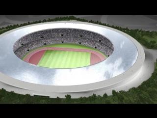 Проект стадиона-плавающего фонтана в Токио