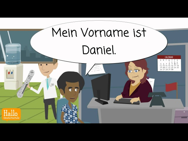 Deutsch lernen A1 1 Lektion 2 Personalien angeben