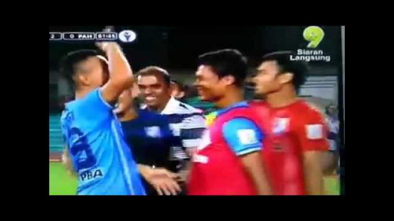 Faiz Subri Amazing Curve Free Kick Goal Pulau Pinang vs Pahang in Malaysia