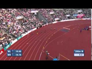 Men's 200m Christophe Lemaitre  Oslo Diamond League 2015