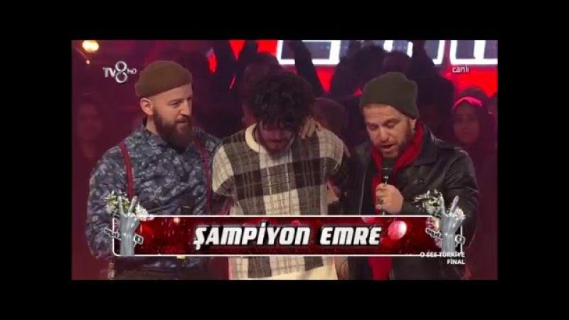O Ses Türkiye Yarışmasının Şampiyonu Emre Sertkaya