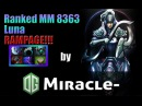 Dota 2 - Miracle- Luna fountain RAMPAGE! 8363 mmr