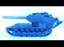 Т 92 VS Bat.-Chatillon 25 t, ELK AMX bis Танки из пластилина